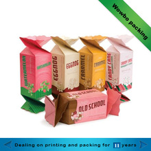 Special style candy shapes design paper packaging chocolate box