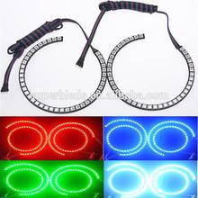 Car HeadLights 12V LED SMD halo ring angel eyes rgb multicolor lamp