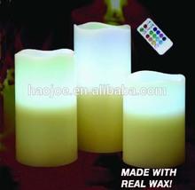 Flameless wax led candle light