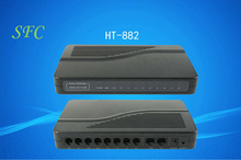 good quality, 8 fxs voip gateway,HT882T,support SIP and H.323 ,HT-882