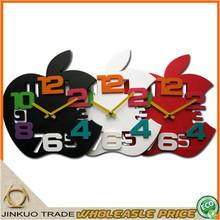 Digital 3D Wall Clock Big Size Apple Shaped Children Wall Clock With Big Digits Kids Room Decor Wholesale CC032