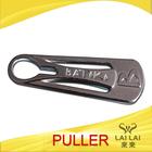 Guanghzou wholesale security metal finish zipper slider embossing logo for garment
