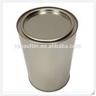 Tin cookie box/tin cookie jar/tin cookie box round
