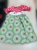 new arrival fashion korean style flower girl dress with belt polka dot short sleeve lovely dress