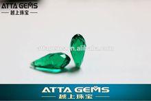 green glass quartz tear drop cut - cheap price usd