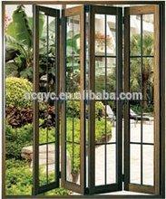 Aluminium frame Double glazing aluminium bifold door