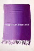 Purple-voilet Ombre viscose hijab long soft scarf fringe shawls pashmina