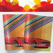 Movie car carton laser book cover manufacturer
