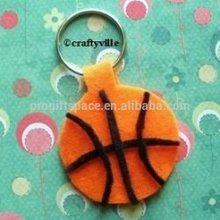 Hot sale new fashion China promotional gifts wholesale handmade boy mini sport craft polyester felt basketball keychain for kids