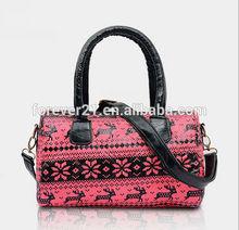2014 Fall And Winter Fashion Christmas Pattern Handbag For Women