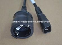 Schuko Buchse auf Kaltgerate Stecker Schuko Bu. / IEC60320-C14