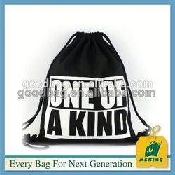 large cotton canvas drawstring bag , MJ-DB0702-Y, China Supplier