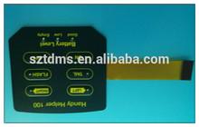 Kapton Circuit LED Membrane Switch keypad With Embossed Graphics