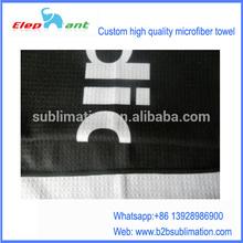 China factory direct sales custom logo print microfiber wallfe golf towel
