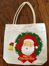Christmas canvas tote bag/cotton tote bag