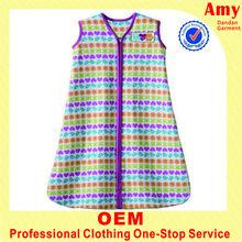 oem infant colorful stripe vestwith long style sleep wear