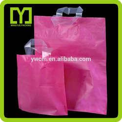 Yiwu China high quality shopping bag wholesale pe plastic handle bag