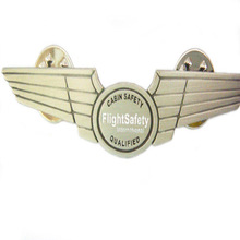 top quality wings lapel pins with double butterflies clutch