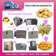 200 kg/h semi automatique frozen pommes de terre frites usine de fabrication