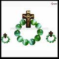Vidrio 8mm ojo de gato anillo católica, artículos religiosos católicos