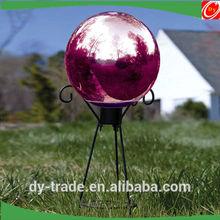 Color Metal Steel Gazing Ball Garden Ornament