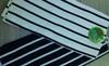 black or white stripe tea towel set A and B edition tea towel set