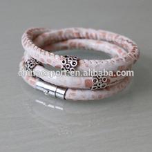 The Most Popular Design Steel Snake Leather Bracelet 2014