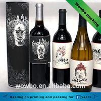Unique design cardboard wine paper box