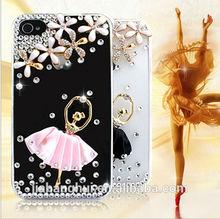wholesale luxury handmade bling diamonds ballet girls crystal mobile case