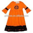Wholesale Latest High Quality Girls Knitted 100% Cotton Mandarin Sleeve Designer Dresses Party Dress Children Frocks Designs