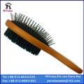 ( l) w23891 novo design moderno venda quente suave punho de madeira dupla face escova de cabelo