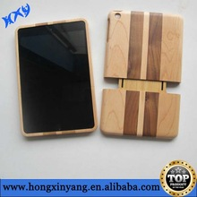 for iPad mini bamboo skin case,wood back cover for iPad