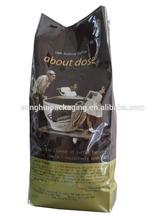vacuum sealed coffee bags/ coffee bag with valve/ green coffee tea bags