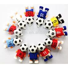 China wholesale Soft pvc football usb flash drive , usb football memory stick , USB 2.0 / USB 3.0 football man