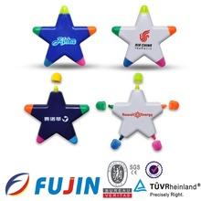 Star shape highlighter WCA for celebration/5*1 highlighter pen/marker pen