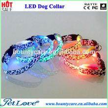 Fashion Leopard Print Series LED Dog Collar,LED Dog Necklace