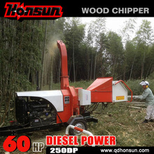 (250DP) Special designed for Europe market hydraulic mobile diesel powered wood chips machine