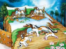good quality 100% cotton carton bed sheet Children Kids bedding set/horse