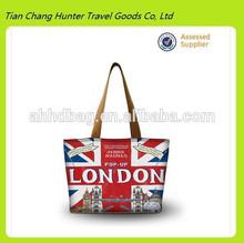 New Arrival Colorful London Design Canvas hand bag,fashionable handbag