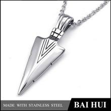 Fashion Jewelry Stainless Steel Silver Arrowhead Pendant