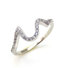 Cheap Silver Ladies Daily Wear Little Finger Rings Simple Ring