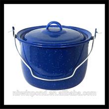 10pcs carbon steel enamel pot ,enamel camping pot