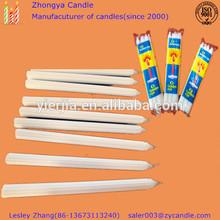White stick fluted candle for illumination export to Africa&UAE
