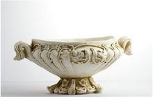 Chinese building material garden urn handmade wholesale purple glass vases