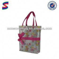 Black Cardboard Non Woven Shopping Bag Promotional Non Woven Cooler Bags