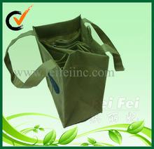 non wove wholesale recyclable wine bottle carrier