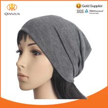 Gray Unisex BEANIE Men Women Knit Cotton Running Hat Spring Baggy Lightweight Summer Cotton Slouchy Cap