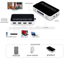 OEM 4K 2K 4 Port 4X1 HDMI switch 2.0V support 1080p 3D@60HZ HDMI 1.4V switch 3 X1 HDMI splitter converter extender for HDTV