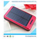 High capacity 15000mAh dual output aluminium alloy solar mobile phone power bank charger for iPhone, Samsung, iPad