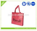 Oem tissé rose rouge pp tissé promotionnel shopping et emballage sac